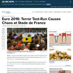 Euro 2016: Terror Test-Run Causes Chaos at Stade de France