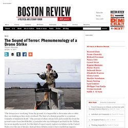 The Sound of Terror: Phenomenology of a Drone Strike