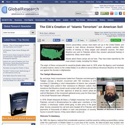 """The CIA's Creation of """"Islamic Terrorism"""" on American Soil"""