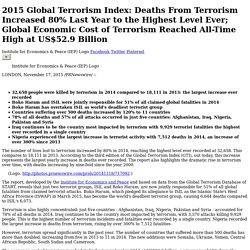 2015 Global Terrorism Index: Deaths From Terrorism Increased 80% Last Year to the...