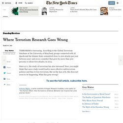 Where Terrorism Research Goes Wrong