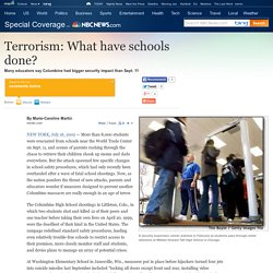 Terrorism: What have schools done? - News - Special Coverage