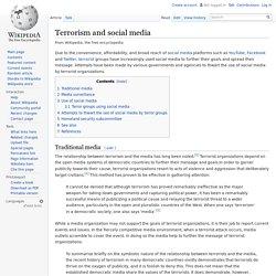 Terrorism and social media