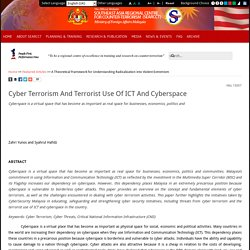 Cyber Terrorism And Terrorist Use Of ICT And Cyberspace