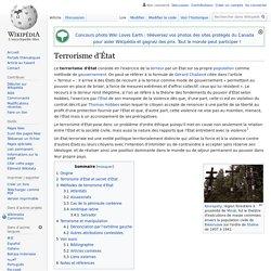 Terrorisme d'État