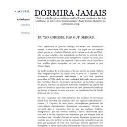 Du terrorisme, par Guy Debord.