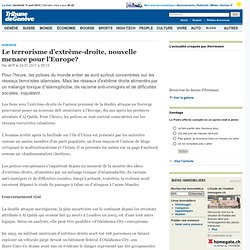 Le terrorisme d'extrême-droite, nouvelle menace pour l'Europe?