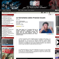 Le terrorisme selon Francis Cousin