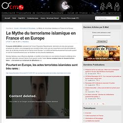 Le Mythe du terrorisme islamique en France et en Europe : CFCM Tv – Culte Musulman et Islam de France – HAJJ 2012 – Halal