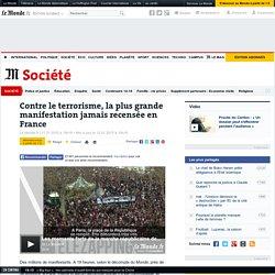Contre le terrorisme, la plus grande manifestation jamais recensée en France