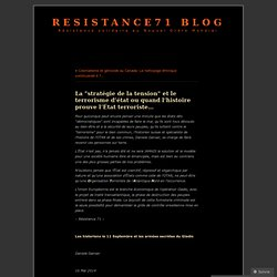 """La """"stratégie de la tension"""" et le terrorisme d'état ou quand l'histoire prouve l'État terroriste…"""