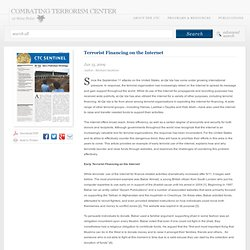 Terrorist Financing on the Internet