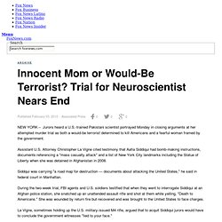 Innocent Mom or Would-Be Terrorist? Trial for Neuroscientist Nea