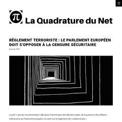 Règlement terroriste : le Parlement européen doit s'opposer à la censure sécuritaire