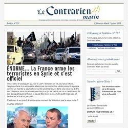 ÉNORME... La France arme les terroristes en Syrie et c'est officiel