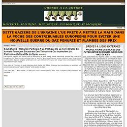 Souk D'Alep : Hollande Participe A La Politique De La Terre Brûlée En Armant Finançant Encadrant Des Terroristes Qui Incendient Le Patrimoine Culturel De La Syrie