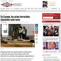 En Europe, les actes terroristes islamistes sont rares