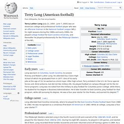 Terry Long (American football)