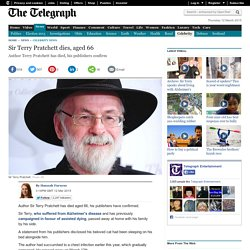 Sir Terry Pratchett dies, aged 66