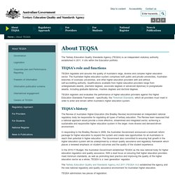 TEQSA - Ensuring quality higher education in Australia