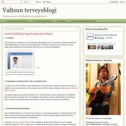 Valtsun terveysblogi: Antti Heikkilä ja loputtomat asiavirheet