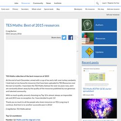 TES Maths: Best of 2015 resources