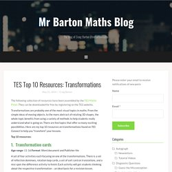 TES Top 10 Resources: Transformations