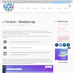 Tes teach – Blendspace app – emedialab