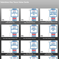 Tesco Value Cards - Valentines Day