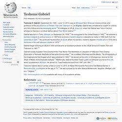 Teshome Gabriel