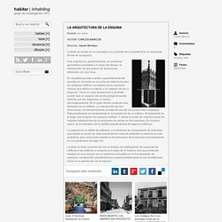 Tesis: la arquitectura de la esquina