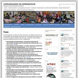 Tesis « Comunidades de Aprendizaje
