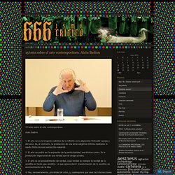 15 tesis sobre el arte contemporáneo. Alain Badiou