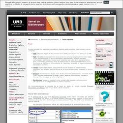 Tesis digitales - Bibliotecas UAB
