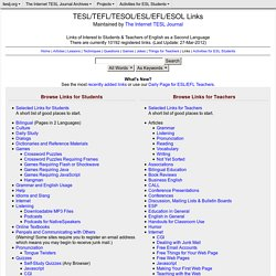 TESL/TEFL/TESOL/ESL/EFL/ESOL Links