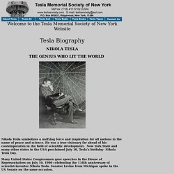 Tesla's Biography