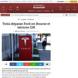 Tesla dépasse Ford en Bourse et talonne GM
