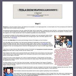 Tesla Doom Weapons and Aum Shinrikyo - 1