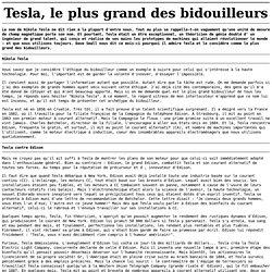 Tesla, le plus grand des bidouilleurs