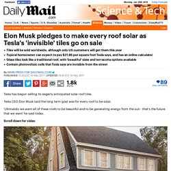 Tesla's 'invisible' solar tiles will go on sale TODAY