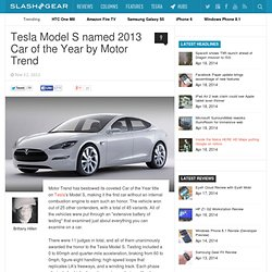Tesla Model S named 2013 Car of the Year by Motor Trend