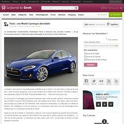 Tesla : une Model 3 presque abordable