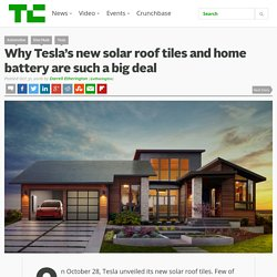 Why Tesla's new solar roof tiles and home battery are such a big deal