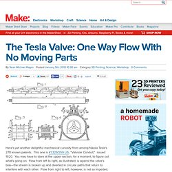 The Tesla Valve: One Way Flow With No Moving Parts
