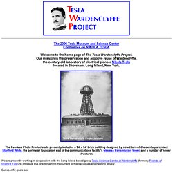 Tesla Wardenclyffe Project