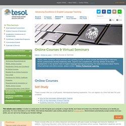 TESOL Online Courses - Webinars