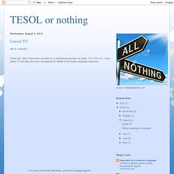 TESOL or nothing: Unreal TV