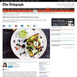 tESpiced avocado toast with black beans recipe