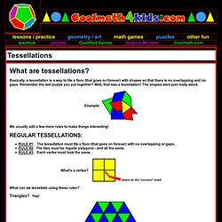 Cool Math 4 Kids - Tessellations