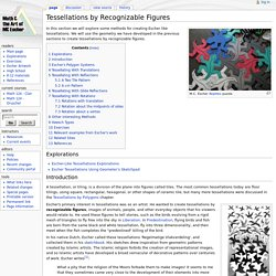 Tessellations by Recognizable Figures - EscherMath